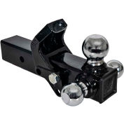 Buyers Products Tri-Ball Hitch with Pintle Hook and Chrome Towing Balls, 2-1/2in Receiver - 1802280