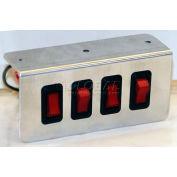Switch Panel, Quad, On-Off Illuminated, - Min Qty 2