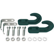 Buyers Products Black Drop Forged Light-Duty Tow Hooks w/ Safety Clip And Bolt Kit, 2 Pk - B2799BKT