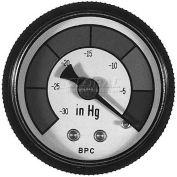 "Buyers Vacuum Gauge, Hsp15v, 1-1/2"" Dial, 1/8"" Npt Stem, Multicolored Dial - Min Qty 7"