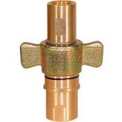 """Acheteurs aile Type Quick Detach Coupleur hydraulique, QDWC241, 1-1/2"""" NPT coupleur, débit 100 GPM"""