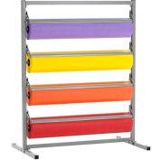 """Bulman Products Four Deck Tower pour 24""""Largeur de matériau, 28-1/2""""W x 24""""D x 49-3/4""""H, Gris clair"""