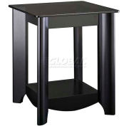"Bush Furniture - End Table W/Tinted Glass Top - 19"" - Black - Aero Series - Pkg Qty 2"