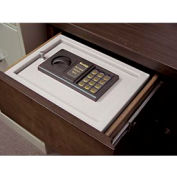"""Small Electronic Drawer Safe 3211-32 - 11-7/8""""W x 4-3/4""""D x 8-3/4""""H, Platinum"""