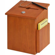 Wood Collection Box - Medium Oak