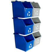 Busch Systems 6 Pack Multi Recycler, 6 Gallon, Gray/Blue - 8112002