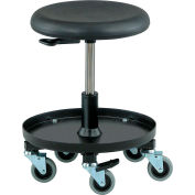 Bevco Scooter Stool with Tool Tray - Polyurethane - Black