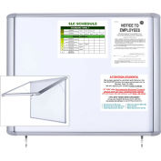 "MasterVision H2O Outdoor Magnetic Dry Erase Enclosed Board, 38""W x 47""H"