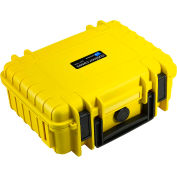 "B&W Small Outdoor Waterproof Case W/ Reconfigurable Padded Divider Insert 10-3/4""Lx8-1/2""Wx4H,Yellow"