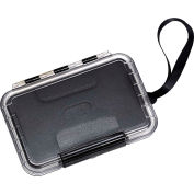 "B&W Type 200 Extra Small Outdoor Waterproof Case 1-1/4""L x 4-1/4""W x 6H, Black/Clear"