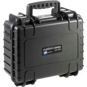 """B&W Type 3000 Medium Outdoor Waterproof Case W/o Foam / Insert 14-1/4""""L x 11-3/4""""W x 6-3/4H, Black"""
