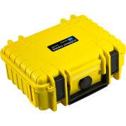 """B&W Type 500 Small Outdoor Waterproof Case W/o Foam / Insert 8-3/4""""L x 7""""W x 3-1/2H, Yellow"""