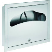 Bradley Corporation Recessed Toilet Seat Cover Dispenser, 500 Seat Covers - 584-000000
