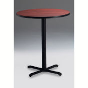"""Safco® 30"""" Round Bar Height Table - Regal Mahogany with Black Base - Bistro Series"""