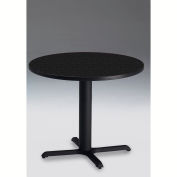 """Safco® 30"""" Round Dining Height Table - Anthracite with Black Base - Bistro Series"""
