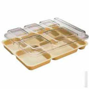 """Cambro 10146DCWC135 - Tray Lid, Fits 6-Comp Tray, 10"""" x 14""""-5/32x1-5/32, Clear - Pkg Qty 24"""
