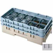 "Cambro 10HS1114151 - Camrack  Glass Rack 10 Compartments 11-3/4"" Max. Height, Soft Gray, NSF - Pkg Qty 2"