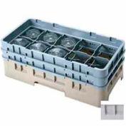"""10HS1114151 cambro - Camrack verre Rack 10 compartiments Max 11-3/4"""". Hauteur, doux gris, NSF, qté par paquet : 2"""