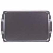 """Cambro 1525RST612 - Room Service. Tray, Rectangular, 14"""" x 21"""", Low Profile, Brushed Steel - Pkg Qty 12"""