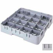 "Cambro 16S958151 - Camrack  Glass Rack 16 Compartments 10-1/8"" Max. Height Soft Gray NSF - Pkg Qty 2"