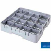 "Cambro 16S958168 - Camrack  Glass Rack 16 Compartments 10-1/8"" Max. Height Blue - Pkg Qty 2"