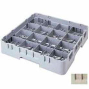 "Cambro 16S958184 - Camrack  Glass Rack 16 Compartments 10-1/8"" Max. Height Beige NSF - Pkg Qty 2"