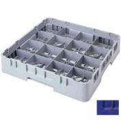 "Cambro 16S958186 - Camrack  Glass Rack 16 Compartments 10-1/8"" Max. Height Navy Blue NSF - Pkg Qty 2"