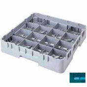 "Cambro 16S958414 - Camrack  Glass Rack 16 Compartments 10-1/8"" Max. Height Teal NSF - Pkg Qty 2"
