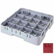 "Cambro 16S958416 - Camrack  Glass Rack 16 Compartments 10-1/8"" Max. Height Cranberry NSF - Pkg Qty 2"
