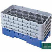 "Cambro 17HS1114119 - Camrack  Glass Rack 17 Compartments 11-3/4"" Max. Height Sherwood Green - Pkg Qty 2"