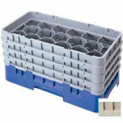 "Cambro 17HS1114184 - Camrack  Glass Rack 17 Compartments 11-3/4"" Max. Height Beige NSF - Pkg Qty 2"