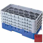 "Cambro 17HS1114416 - Camrack  Glass Rack 17 Compartments 11-3/4"" Max. Height Cranberry NSF - Pkg Qty 2"