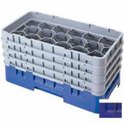"Cambro 17HS638186 - Camrack  Glass Rack 17 Compartments 6-7/8"" Max. Height Navy Blue NSF - Pkg Qty 3"