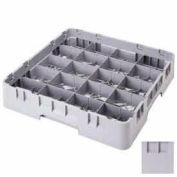 Cambro 20C258151 - Camrack Cup Rack, Full, 19-3/4x19-3/4x4, 20 Comp, 4-3/8x3-1/2, 2-5/8 Ht., Gray - Pkg Qty 6