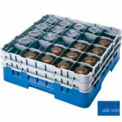 "Cambro 25S1214168 - Camrack  Glass Rack Low Profile 25 Compartments 12-5/8"" Max. Height Blue - Pkg Qty 2"