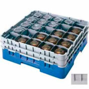 "Cambro 25S800151 - Camrack  Glass Rack 25 Compartments 8-1/2"" Max. Height Soft Gray NSF - Pkg Qty 2"
