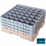 """Cambro 36S1114414 - Camrack  Glass Rack 36 Compartments 11-3/4"""" Max. Height Teal NSF - Pkg Qty 2"""