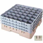 """Cambro 36S318184 - Camrack  Glass Rack 36 Compartments 3-5/8"""" Max. Height Beige NSF - Pkg Qty 5"""