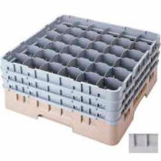 "Cambro 36S738151 - Camrack  Glass Rack Low Profile 36 Compartments 7-3/4"" Max. Ht. Gray NSF - Pkg Qty 3"