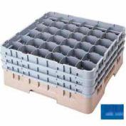 """36S958168 cambro - Camrack verre Rack 36 compartiments Max 10-1/8"""". Hauteur bleu NSF, qté par paquet : 2"""