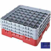 "Cambro 49S318186 - Camrack  Glass Rack 49 Compartments 3-5/8"" Max. Height, Navy Blue, NSF - Pkg Qty 5"
