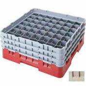 """49S638184 cambro - Camrack verre grille 49 compartiments Max 6-7/8"""". Hauteur, Beige,, qté par paquet : 3"""