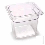 "Cambro 66CW135 - Camwear Food Pan, Plastic, 1/6 Size, 6"" Deep, Polycarbonate, Clear, NSF - Pkg Qty 6"