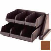 Cambro 6RS6131 - Organizer Rack, with 6 Bins, 20-1/8 x 17-1/4 x 9-1/4, Dark Brown