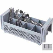 Cambro 8FBNH434151 - Flatware Basket, Half Size, 8 Compartments, Polypropylene, Gray - Pkg Qty 6
