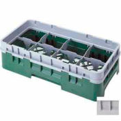 "Cambro 8HS434151 - Camrack  Glass Rack 8 Compartments 5-1/4"" Max. Height Soft Gray - Pkg Qty 4"