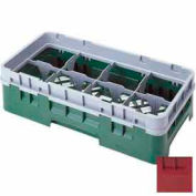 "Cambro 8HS958416 - Camrack  Glass Rack 8 Compartments 10-1/8"" Max. Height Cranberry NSF - Pkg Qty 2"