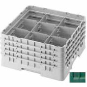 "Cambro 9S1114119 - Camrack  Glass Rack 9 Compartments 11-3/4"" Max. Height Sherwood Green NSF - Pkg Qty 2"