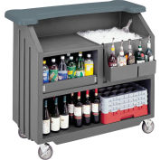 Cambro BAR540DS671 - Small Size, Bottle Service, Designer Decor, Granite Gray Base w/Slate Gray