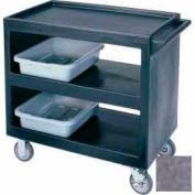 "cambro BC235191 - Bus Cart 5"" roulettes (2 fixes 2 pivotantes 1 avec frein) Granite gris"